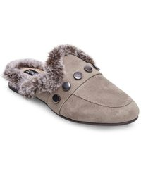 Lord & Taylor - Savant Mules With Faux Fur - Lyst
