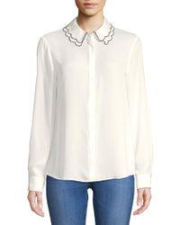 Ivanka Trump - Scalloped Collar Shirt - Lyst
