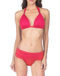 Lauren by Ralph Lauren - Solid Mould Cups Bikini Top - Lyst