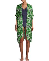 Laundry by Shelli Segal Tropical Print Coverup