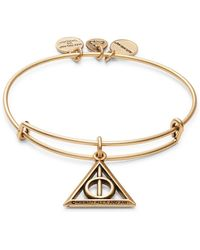 ALEX AND ANI - Harry Potter Deathly Hallows Charm Bracelet - Lyst