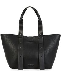 Calvin Klein - Jane Leather Tote - Lyst