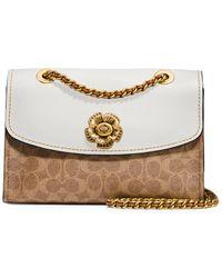 79d5c2230630 COACH - Parker Tea Rose Turnlock Shoulder Bag - Lyst