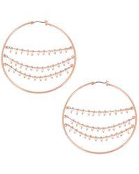 BCBGeneration - Beaded Hoop Earrings - Lyst