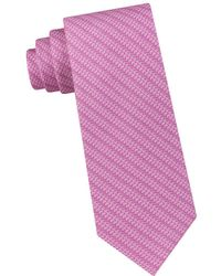Michael Kors - Subtle Logo Striped Silk Tie - Lyst