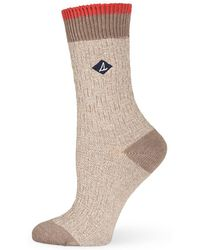 Sperry Top-Sider - Basketweave Slub Crew Socks - Lyst