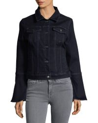 Lord & Taylor - Denim Bell-sleeve Jacket - Lyst