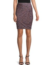 1.STATE - Ditsy Drift Ruched Floral Skirt - Lyst