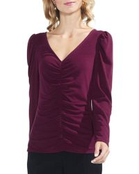 Vince Camuto - Puffed Ruched Top - Lyst