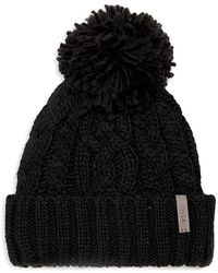 Rella - Pom-pom Cable-knit Beanie - Lyst