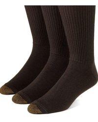 Goldtoe - 3-pack Crew-length Socks - Lyst