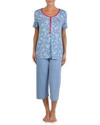 Claudel - Printed Capri Pajamas - Lyst