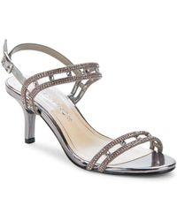 Caparros - Happy Platino Metallic Slingback Sandals - Lyst
