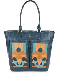 Nanette Lepore - Echo Suede And Leather Tote - Lyst
