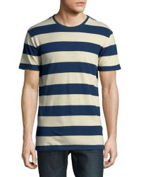 SELECTED - Striped Short-sleeve Cotton Tee - Lyst