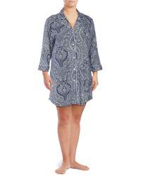 Lauren by Ralph Lauren - Plus Printed Sleepshirt - Lyst