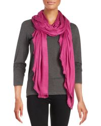 Lord & Taylor - Solid Fringed Pashmina Scarf - Lyst