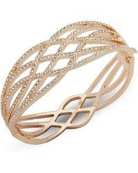 Anne Klein - Crystal Boxed Bangle Bracelet - Lyst