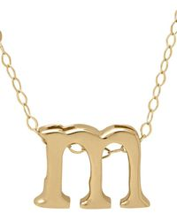 Lord & Taylor - 14k Gold Pendant Necklace - Lyst