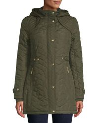 Weatherproof - Quilted Front Snap Jacket - Lyst