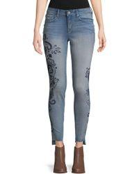 William Rast - Distressed Skinny Jeans - Lyst