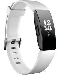 Fitbit - Inspire Hr White Fitness Tracker - Lyst