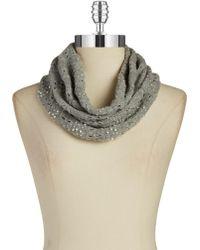 Lauren by Ralph Lauren - Embellished Knit Infiniti Scarf - Lyst