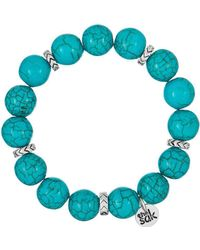 The Sak - Simulated Turquoise Beaded Stretch Bracelet - Lyst