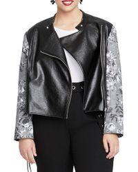 RACHEL Rachel Roy - Plus Charlie Moto Combo Jacket - Lyst