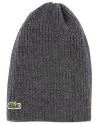 Lacoste - Wool Knit Hat - Lyst