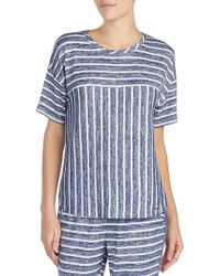 Kensie - Striped Jersey Tee - Lyst