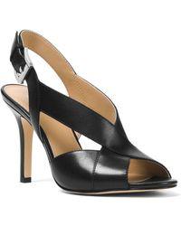 MICHAEL Michael Kors - Becky Sandal (black Smooth Calf) Women's Dress Sandals - Lyst