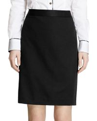 Brooks Brothers - Solid Pencil Skirt - Lyst
