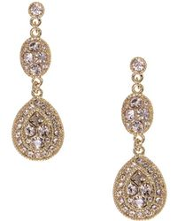 Givenchy - Linear Crystal Drop Earrings - Lyst