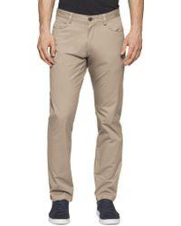 Calvin Klein - Four-pocket Sateen Pants - Lyst