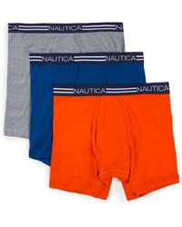 Nautica - Three-pack Cotton Boxer Briefs - Lyst