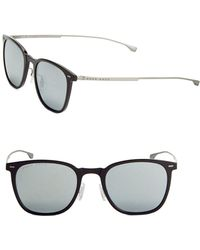 HUGO - 52mm Lightweight Square Sunglasses - Lyst