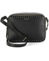 Calvin Klein - Embellished Leather Bag - Lyst