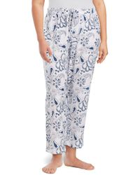 Lord & Taylor - Plus Drawstring Cotton Trousers - Lyst