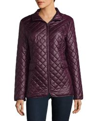 Ellen Tracy - Quilted Jacket - Lyst