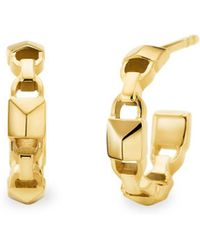Michael Kors - Mercer Link 14k Gold-plated Huggie Earrings - Lyst