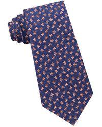 Lord & Taylor - Botanical Silk & Cotton Tie - Lyst