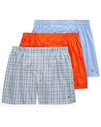 Polo Ralph Lauren - 3-pack Classic-fit Cotton Boxer Shorts - Lyst