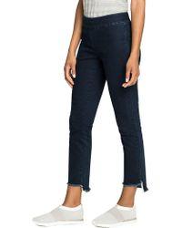 NIC+ZOE - Step-hem Cropped Jeans - Lyst