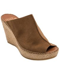 Andre Assous - Cici Suede Espadrille Wedge Mules - Lyst