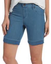 Hue - Cuffed Essential Denim Shorts - Lyst