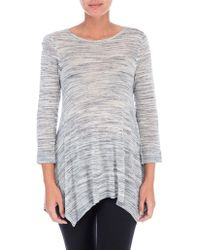 B Collection By Bobeau - Space Dyed Knit Top - Lyst