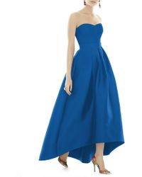 Alfred Sung - Royal Strapless Twill Dress - Lyst