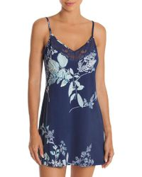 In Bloom - Forest Lace-trimmed Chemise - Lyst