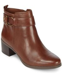 Anne Klein - Jeannie Leather Booties - Lyst
